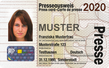 Presseausweis 2020 Muster